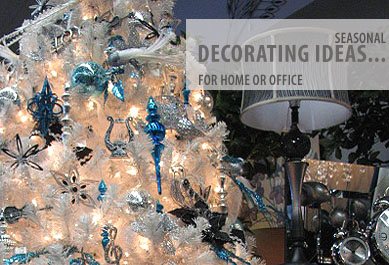 Seasonal decorating ideas for home or office, home decor, lighting, artificial plants and trees.Special orders available.